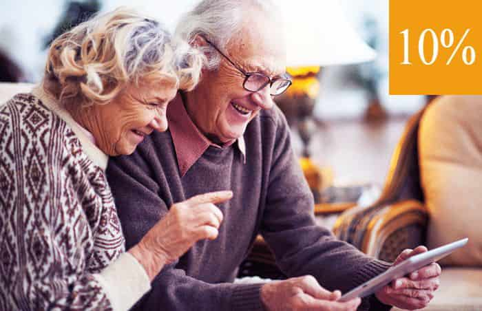 Скидка для всех пенсионеров 10%